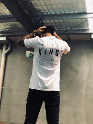 White Warped Logo Tee
