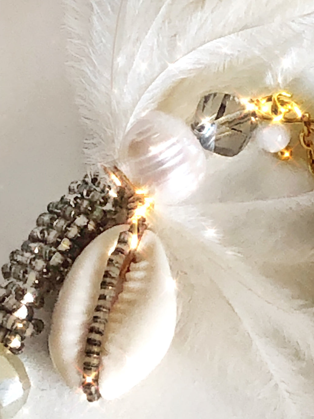 Natural Ostrich Feather Bracelet