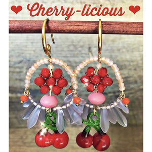 Cherry-licious Earrings Gold Plated