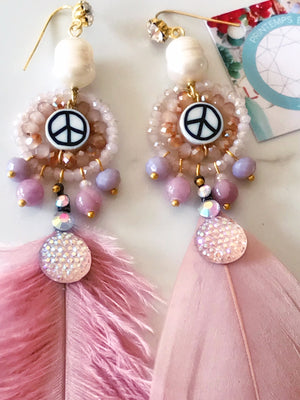 Mismatched Dusty Rose Earrings