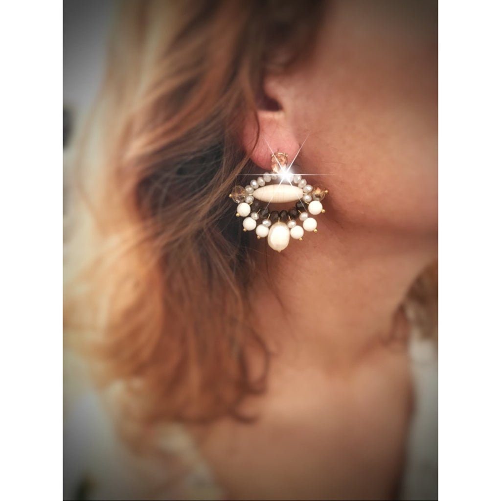Keepin' it Classy Brown Beige Earrings