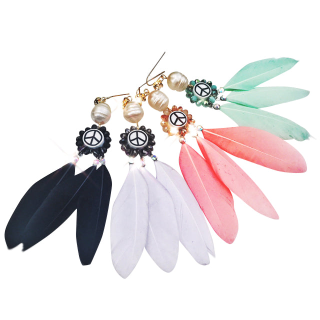 Peace Feather Earrings