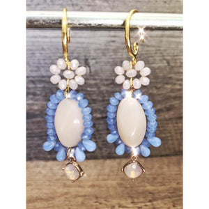 Sitting Pretty Earrings Cornflower