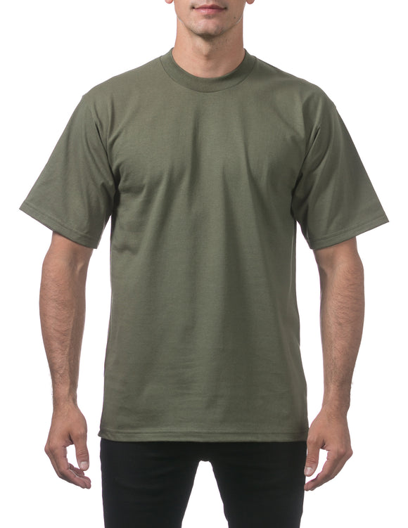 PRO CLUB HEAVY WEIGHT S/S TEE (OLIVE)
