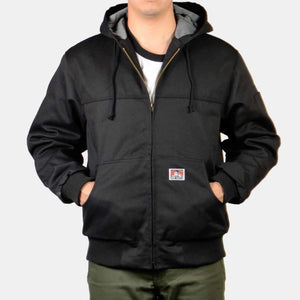"BEN DAVIS ""ORIGINAL"" HOODED ZIP JACKET (BLACK)"