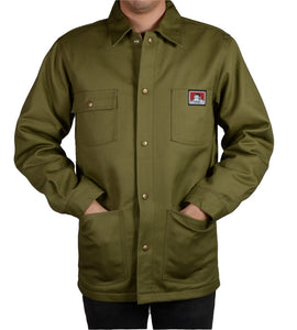 "BEN DAVIS ""ORIGINAL"" BUTTON DOWN JACKET (OLIVE GREEN)"
