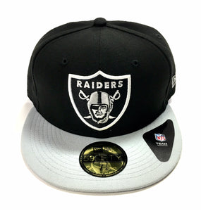 "NEW ERA ""TEAM"" OAKLAND RAIDERS FITTED HAT"