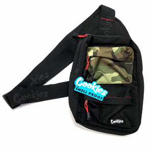 "COOKIES ""RACK PACK"" SMELL PROOF SHOULDER/SLING BAG (BLK/CAMO)"