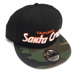 "SFC ""SANTA CRUZ CA"" NEW ERA SNAPBACK (CAMO/BLACK/ORANGE)"