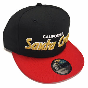 "SFC ""SANTA CRUZ CA"" NEW ERA SNAPBACK (RED/BLACK/GOLD)"