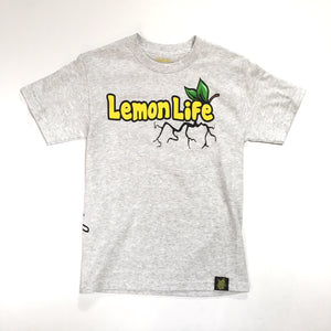 "LEMON TREE ""LEMON LIFE LEAF"" TEE (ASH HEATHER)"