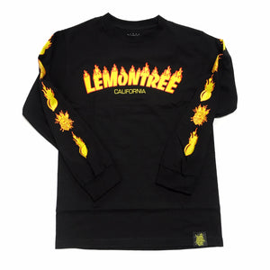 "LEMON TREE ""FLAMING"" L/S TEE (BLACK)"
