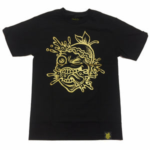"LEMON TREE ""SPLAT"" TEE (BLACK/GOLD)"