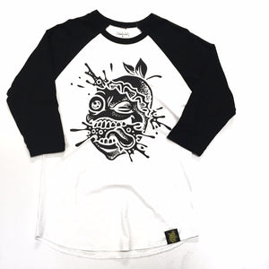 "LEMON TREE ""SPLAT"" RAGLAN (WHITE/BLACK)"