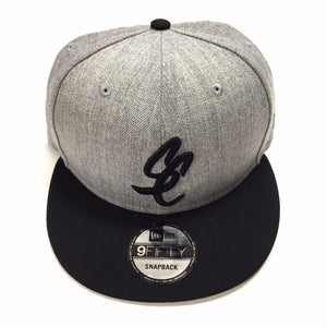 "SFC ""SC SCRIPT"" NEW ERA SNAPBACK (HEATHER GREY/BLACK)"