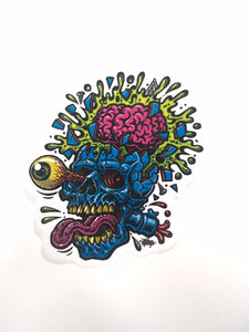 "JIMBO PHILLIPS ""SKULL BLAST"" STICKER"