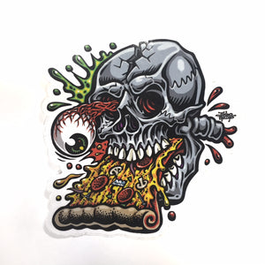 "JIMBO PHILLIPS ""PIZZA SKULL"" STICKER"