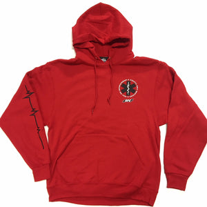 "SOB X RBE X SO FRESH CLOTHING ""PARAMEDIC"" HOODY (RED)"