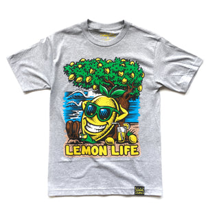 "LEMON TREE ""BEACH"" TEE (HEATHER)"