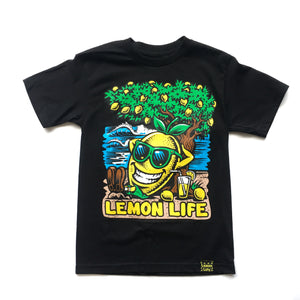 "LEMON TREE ""BEACH"" TEE (BLACK)"