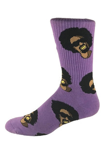 "FOOTWORK ""MAC DRE"" SOCKS (PURPLE)"