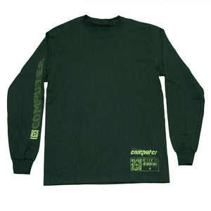 "COMPUTER ""CAD"" LONGSLEEVE TEE (FOREST GREEN)"