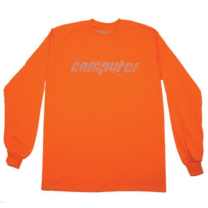 "COMPUTER ""BACKLIT"" LONGSLEEVE TEE (ORANGE/3M)"
