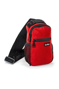 "COOKIES ""NOAH"" SMELL PROOF SHOULDER/SLING BAG (RED MICRO SUEDE)"