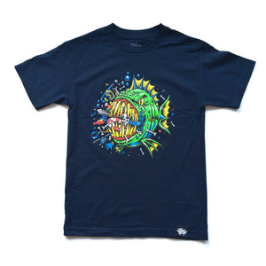 "JIMBO PHILLIPS ""BAD FISH"" TEE (NAVY)"