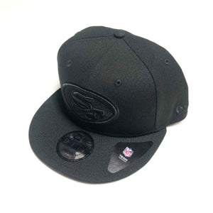 "NEW ERA ""LEAGUE BASIC"" SF 49ERS SNAPBACK (BLACK/BLACK)"