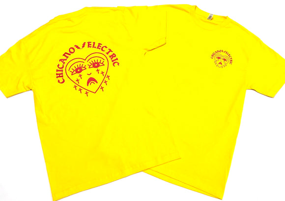 "CHICANO ELECTRIC""TEARS"" TEE (YELLOW/RED)"