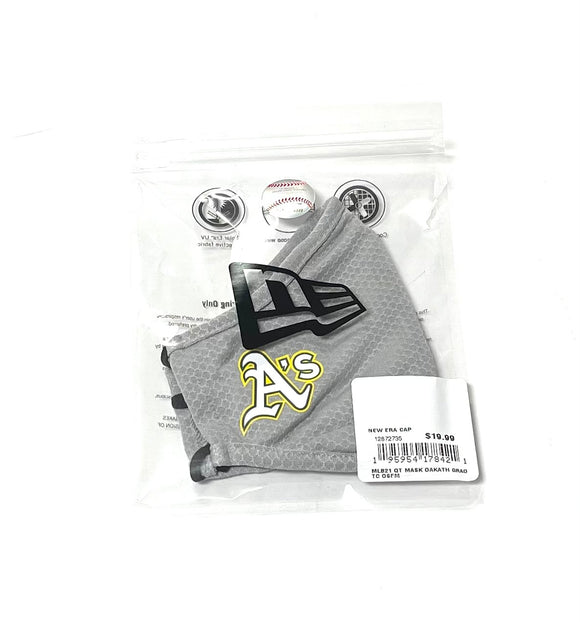 "NEW ERA ""OFFICIAL ON-FIELD"" OAKLAND A'S FACE MASK (GREY)"