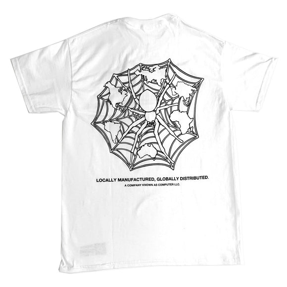 "COMPUTER ""DARK WEB"" TEE (WHITE/GLOW IN THE DARK)"