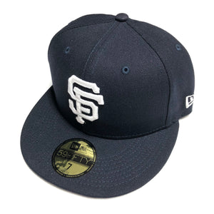 "NEW ERA ""TEAM"" SF GIANTS FITTED HAT (NAVY/WHITE)"