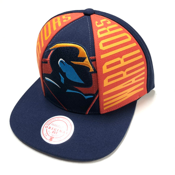 "MITCHELL & NESS ""BIG FACE"" GS WARRIORS SNAPBACK"