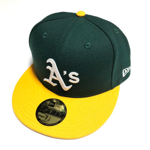 "NEW ERA ""BASIC ON FIELD"" OAKLAND A'S  FITTED HAT"