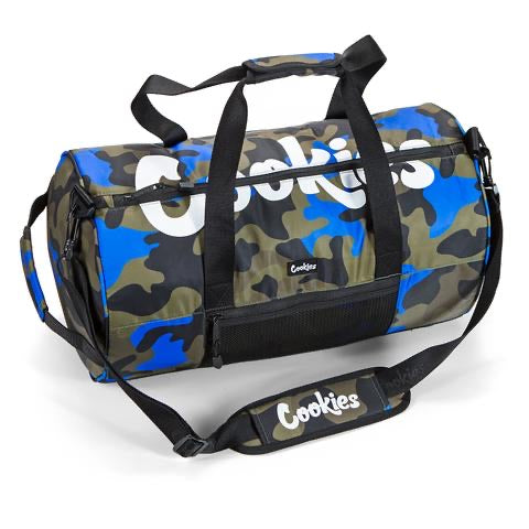 "COOKIES ""SUMMIT"" SMELL PROOF DUFFLE (BLUE CAMO)"