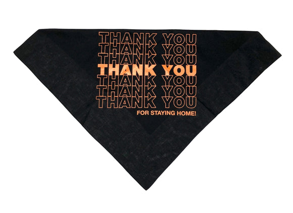 "SFC X COMPUTER ""THANK YOU"" BANDANA (BLACK/ORANGE)"