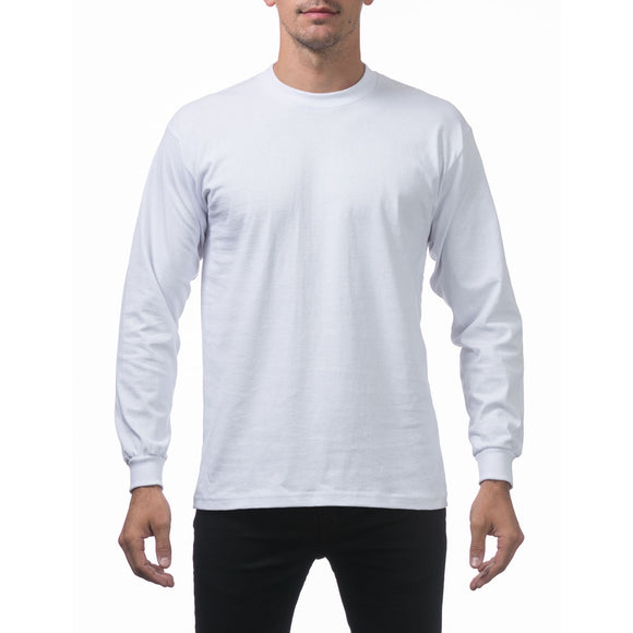 PRO CLUB HEAVY WEIGHT L/S TEE (WHITE)