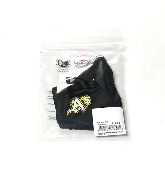 "NEW ERA ""OFFICIAL ON-FIELD"" OAKLAND A'S FACE MASK (BLACK)"