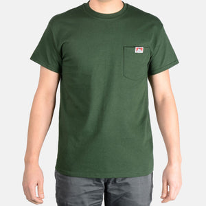 "BEN DAVIS ""LOGO""  POCKET TEE (HUNTER GREEN)"