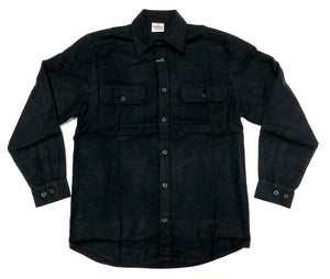 EXTRA HEAVYWEIGHT FLANNEL  SHIRT (BLACK)