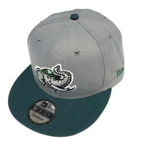 "NEW ERA ""MODESTO A'S"" SNAPBACK (GREY/FOREST GREEN)"
