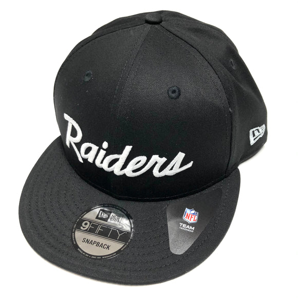 "NEW ERA ""SCRIPT"" OAKLAND RAIDERS SNAPBACK"