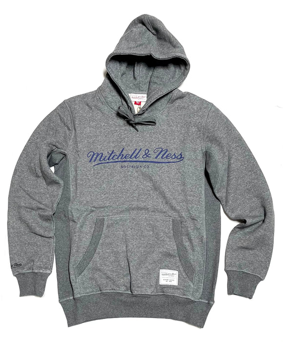 "MITCHELL & NESS ""CLASSIC"" HOODY (CHARCOAL HEATHER)"