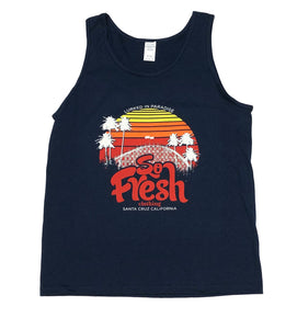 "SFC ""LURKED IN PARADISE"" TANK TOP (NAVY)"