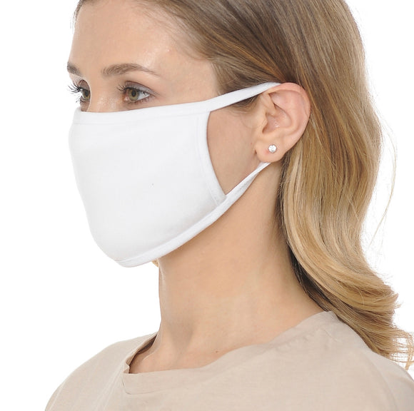 SOFT COTTON MASK W/ EAR LOOP (WHITE)