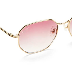 "COOKIES ""METAL HEXAGON FRAMED"" SUNGLASSES (ROSE)"