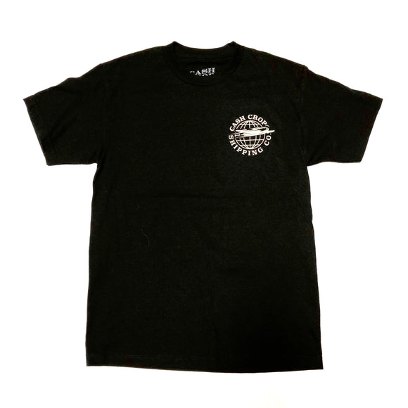 "CASH CROP ""SHIPPING CO."" TEE (BLACK/CREAM)"