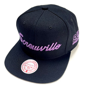 "MITCHELL & NESS ""SCREWVILLE"" SNAPBACK (BLACK)"